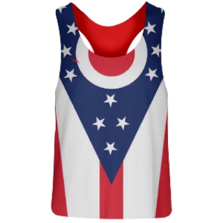 Womens Ohio Flag Racerback Pinnies