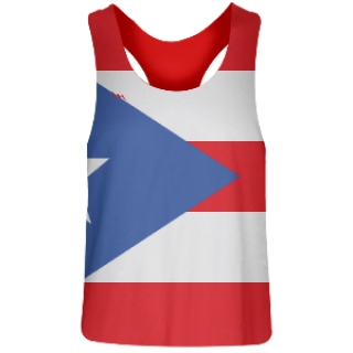 Womens Puerto Rico Flag Racerback Pinnies