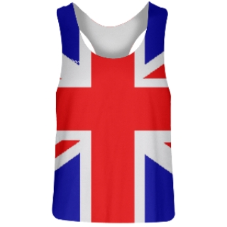 Womens British Flag Racerback Jerseys
