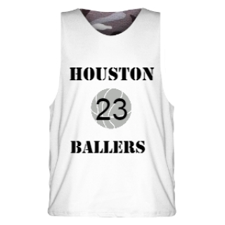 White Black Camouflage Basketball Uniform Design