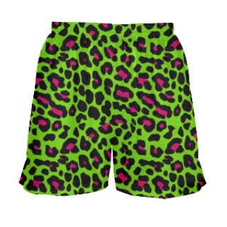 Girls Lacrosse Shorts Neon Cheetah