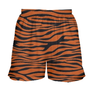 Tiger Print Girls Lacrosse Shorts