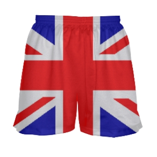 Girls British Flag Lacrosse Shorts