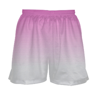 Girls Lacrosse Shorts - Pink to White Fade