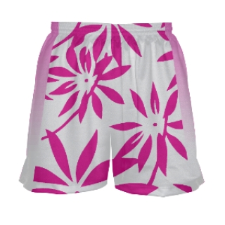 Floral Girls Lacrosse Shorts Pink