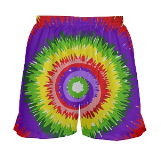 Girls Tie Dye Lacrosse Shorts