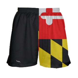 Girls Maryland Flag Lacrosse Shorts