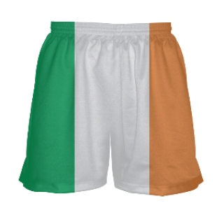 Womens Irish Flag Lacrosse Shorts