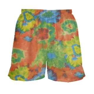 Tie Dye Lacrosse Shorts for Girls