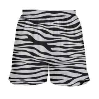 Girls Zebra Lacrosse Shorts