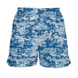 Girls Blue Digital Camouflage Shorts