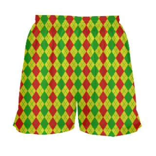 Girls Rasta Argyle Lacrosse Shorts