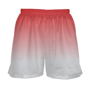 Red Ombre Shorts for Girls