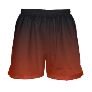 Red Black Ombre Lacrosse Shorts for Girls