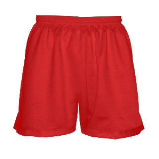 Girls Red Lacrosse Shorts