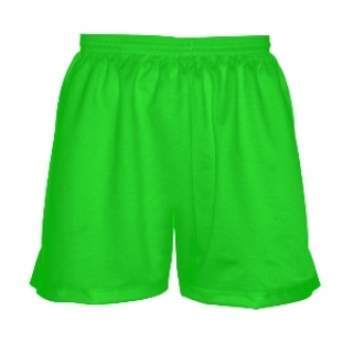 Girls Neon Green Lacrosse Uniform Shorts
