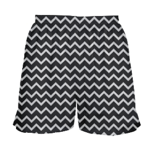 Girls Zig Zag Lacrosse Shorts