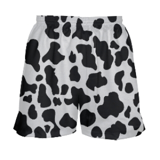Cow Print Girls Lacrosse Shorts