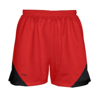 Girls Red and Black Basketball Shorts