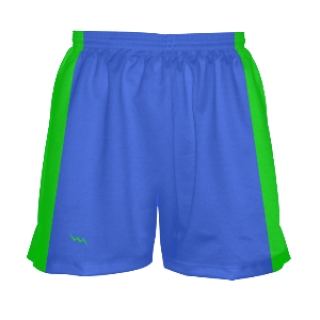 Neon Green and Blue Girls Lax Shorts
