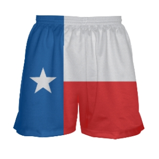 Girls Texas Flag Lacrosse Shorts