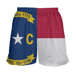 Womens North Carolina Flag Shorts