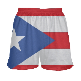 Girls Puerto Rico Flag Shorts