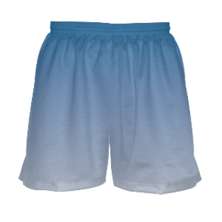 Girls Blue White Fade Lacrosse Shorts
