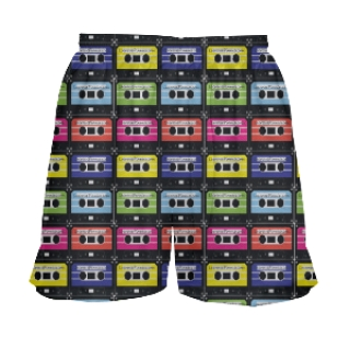 Girls Cassette Lacrosse Shorts