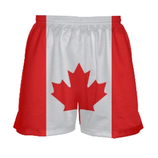 Canada Flag Lacrosse Shorts for Girls