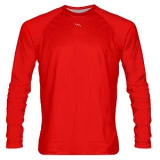 Red Long Sleeve Shooter Shirts