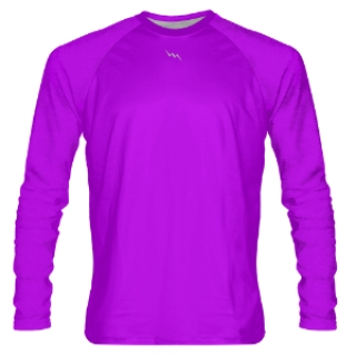 Purple Long Sleeve Shooter Shirts
