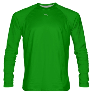 Kelly Green Long Sleeve Shooter Shirts