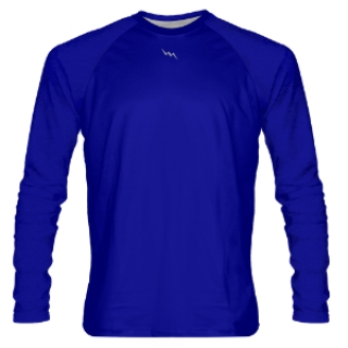 Royal Blue Long Sleeve Shooter Shirts