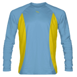 Powder Blue and Gold Long Sleeve Shooter Shirts