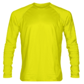 Yellow Long Sleeve Shooter Shirts