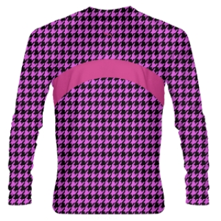 Pink Hound Tooth Long Sleeve Shooter Shirts