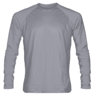 Silver Long Sleeve Shooter Shirts