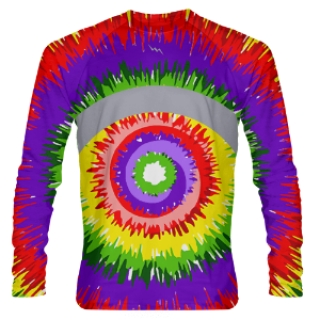 Tie Dye Long Sleeve Shooter Shirts