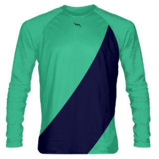 Teal Long Sleeve Lacrosse Shooter Shirts