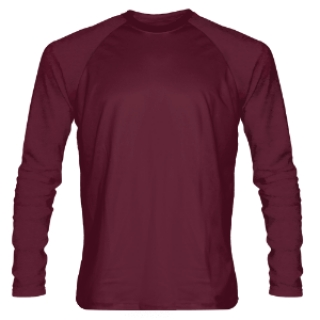 Maroon Long Sleeve Shooter Shirts