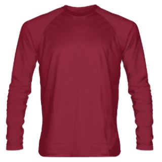 Cardinal Red Long Sleeve Shooter Shirts