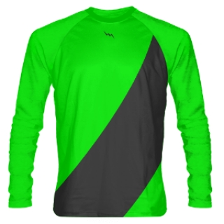 Neon Green Long Sleeve Shooter Shirts