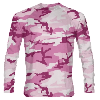 Girls Pink Camouflage Long Sleeve Shooter Shirts