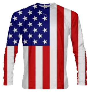 American Flag Long Sleeve Shirts