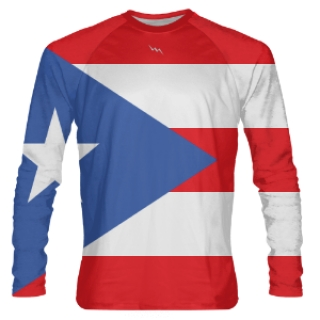 Puerto Rico Long Sleeve Shirts