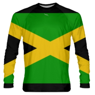 Jamaica Flag Long Sleeve Shirts