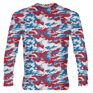Red White and Blue Long Sleeve Shooter Shirts