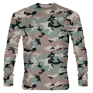 Long Sleeve Shooter Shirts Camouflage