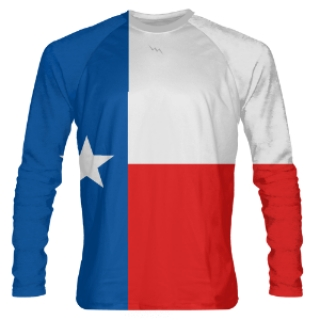 Texas Flag Long Sleeve Shooter Shirts